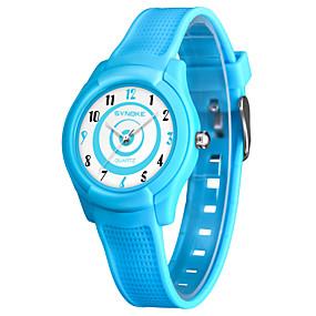 voordelige Merk Horloge-SYNOKE Heren Dames Sporthorloge Digitaal horloge Japans Japanse quartz Gewatteerd PU-leer Zwart / Wit / Blauw 50 m Waterbestendig Schattig Analoog Digitaal Modieus - Zwart Blauw Roze