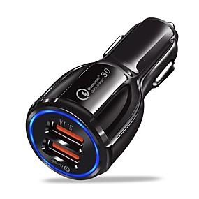 billige Bilopladere-Bil Oplader USB oplader USB QC 3.0 2 USB-porte 3.1 A DC 12V-24V for iPhone X / iPhone 8 Plus / iPhone 8