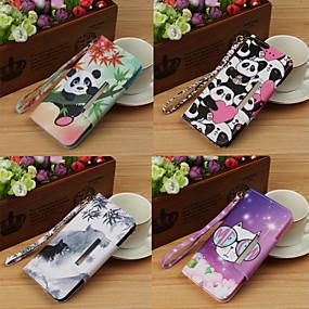 voordelige Galaxy S7 Hoesjes / covers-hoesje Voor Samsung Galaxy S9 / S9 Plus / S8 Plus Portemonnee / met standaard / Flip Volledig hoesje dier / Cartoon Hard PU-nahka