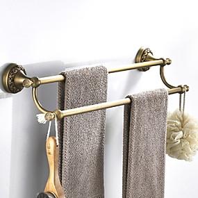 cheap Bathroom Gadgets-Towel Bar New Design Antique Brass 1pc Double Wall Mounted