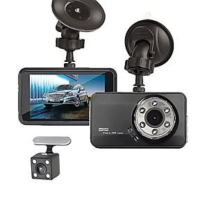 voordelige Auto DVR's-T638+ 720p / 1080p Nieuw Design / Cool / Dubbele lens Auto DVR 170 graden Wijde hoek ≤3 inch(es) LTPS Dash Cam met Nacht Zicht / G-Sensor / Parkeermodus Neen Autorecorder