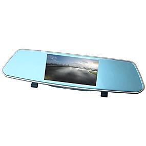 voordelige Auto DVR's-ziqiao xr805 full hd 1080p 5 inch ips nachtzicht auto dvr spiegel camera videorecorder dubbele lens registrar achteraanzicht dvrs dash cam