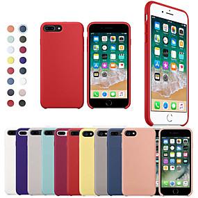 olcso iPhone 8 Plus tokok-táska alma iphone xr xs xs max ütésálló hátsó fedél szilárd színű puha szilikon iphone x 8 8 és 7 7plus 6s 6s plus se 5 5s