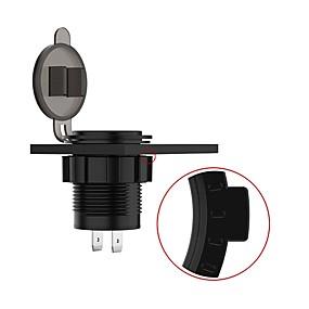 voordelige Motor- & ATV-onderdelen-usmei motorfiets / auto / boot input 4.8a voltmeter oplader socket 2 usb voor 5v