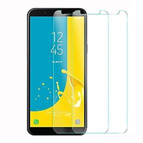 halpa Samsung suojakalvot-Näytönsuojat varten Samsung Galaxy J6 Karkaistu lasi 1 kpl Näytönsuoja Teräväpiirto (HD) / 9H kovuus / 2,5D pyöristetty kulma