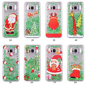voordelige Galaxy S7 Hoesjes / covers-hoesje Voor Samsung Galaxy S8 Plus / S8 / S7 edge Stromende vloeistof / Transparant / Patroon Achterkant Kerstmis Hard PC