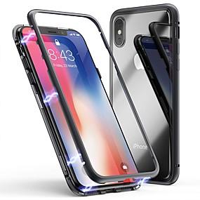 halpa iPhone 6s kotelot-Cooho Etui Käyttötarkoitus Apple iPhone X / iPhone 7 Plus Iskunkestävä / Pölynkestävä / Läpinäkyvä Takakuori Yhtenäinen Kova Karkaistu lasi / PC varten iPhone X / iPhone 8 Plus / iPhone 8