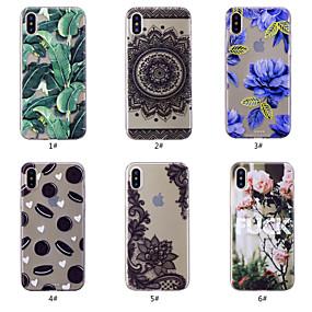 levne iPhone pouzdra-Carcasă Pro Apple iPhone XS / iPhone XS Max Vzor Zadní kryt Jídlo / Květiny Měkké TPU pro iPhone XS / iPhone XR / iPhone XS Max