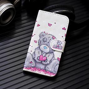 voordelige Galaxy J5(2017) Hoesjes / covers-hoesje Voor Samsung Galaxy J7 (2017) / J6 / J5 (2017) Portemonnee / Kaarthouder / met standaard Volledig hoesje Hart / dier Hard PU-nahka