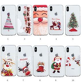 billige Trendy topvalg-Etui Til Apple iPhone XR / iPhone XS Max Mønster Bagcover Jul Blødt TPU for iPhone XS / iPhone XR / iPhone XS Max