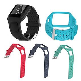 billige Smarturstilbehør-Urrem for TomTom Multi-Sport GPS+HRM TomTom Sportsrem Silikone Håndledsrem
