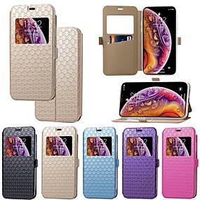 levne iPhone pouzdra-Carcasă Pro Apple iPhone XR / iPhone XS Max Pouzdro na karty / se stojánkem / Flip Celý kryt Jednobarevné / Kachlička Pevné PU kůže pro iPhone XS / iPhone XR / iPhone XS Max