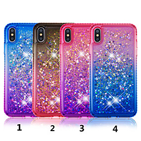 levne iPhone pouzdra-Carcasă Pro Apple iPhone XS / iPhone XS Max S kamínky / S plynem / Průsvitný Zadní kryt Zářící barvy Pevné TPU pro iPhone XS / iPhone XR / iPhone XS Max