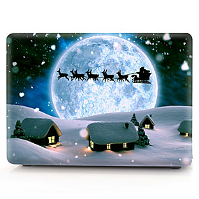 """cheap MacBook Pro 15"""" Cases-MacBook Case Oil Painting Cartoon / Christmas PVC for Air Pro Retina 11 12 13 15 Laptop Cover Case for Macbook New Pro 13.3 15 inch with Touch Bar"""