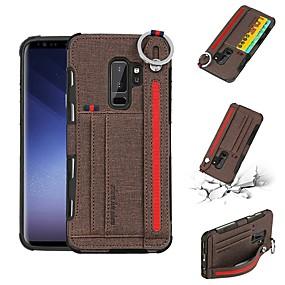 halpa Galaxy S -sarjan kotelot / kuoret-Etui Käyttötarkoitus Samsung Galaxy S9 Plus / S8 Plus Korttikotelo Takakuori Yhtenäinen Kova tekstiili varten S9 / S9 Plus / S8 Plus