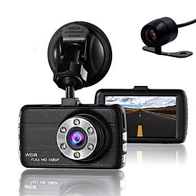 voordelige Auto DVR's-dubbele lens dash cam camera dvr auto voor drivers full hd 1080 p recorder camera met nachtzicht g-sensor