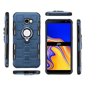 voordelige Galaxy J7(2017) Hoesjes / covers-hoesje Voor Samsung Galaxy J7 (2017) / J6 (2018) / J6 Plus Schokbestendig / Ringhouder Achterkant Effen Zacht PC