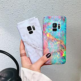 voordelige Galaxy S7 Hoesjes / covers-hoesje Voor Samsung Galaxy S9 Plus / S9 Mat / Patroon Achterkant Marmer Hard PC voor S9 / S9 Plus / S8 Plus