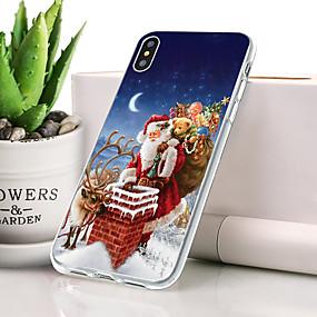 billige Trendy topvalg-Etui Til Apple iPhone XS Max Støvsikker / Ultratyndt / Mønster Bagcover Jul Blødt TPU for iPhone XS Max
