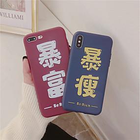 olcso iPhone tokok-Case Kompatibilitás Apple iPhone XR / iPhone XS Max Jeges / Minta Fekete tok Szó / bölcselet Puha TPU mert iPhone XS / iPhone XR / iPhone XS Max