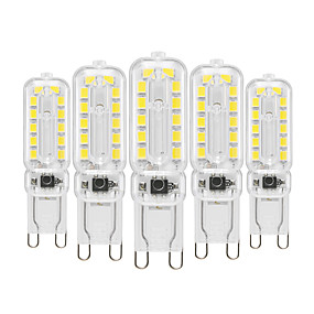 abordables Luces LED de Doble Pin-YWXLIGHT® 5pcs 6 W Luces LED de Doble Pin 450-550 lm G9 T 22 Cuentas LED SMD 2835 Regulable Decorativa Blanco Cálido Blanco Fresco Blanco Natural 220-240 V 110-130 V / 5 piezas / Cañas