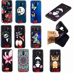 voordelige Galaxy A3(2016) Hoesjes / covers-hoesje Voor Samsung Galaxy A6 (2018) / A6+ (2018) / Galaxy A7(2018) Patroon Achterkant Vlinder / Uil / Panda Zacht TPU