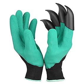 preiswerte Gartengeräte-1 Paar Gartengrabenhandschuhe mit Krallen, die Schlammaushubarbeiten mit isolierenden Schutzhandschuhen graben