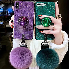 Недорогие Кейсы для iPhone-чехол для яблока iphone xr xs xs max с подставкой / imd / узором задняя крышка мрамор мягкое тпу для iphone x 8 8 плюс 7 7plus 6s 6s plus se 5 5s