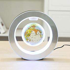 cheap Novelty Lighting-Novelty Round LED World Map Floating Globe Magnetic Levitation Light Antigravity Magic/Novel Lamp