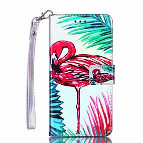 voordelige Galaxy S7 Edge Hoesjes / covers-hoesje Voor Samsung Galaxy S9 / S9 Plus / S8 Plus Portemonnee / Kaarthouder / Schokbestendig Volledig hoesje Flamingo Hard PU-nahka