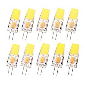 Недорогие Двухконтактные LED лампы-SENCART 10 шт. 3 W Двухштырьковые LED лампы 450 lm G4 T 1 Светодиодные бусины COB Водонепроницаемый Диммируемая Тёплый белый Холодный белый 12-24 V