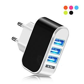 Χαμηλού Κόστους Φορτιστές USB-Φορτιστής USB -- 3 Σταθμός φορτιστή γραφείου Νεό Σχέδιο Ευρωπαϊκή Πρίζα Φορτιστής προσαρμογέα