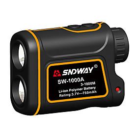 halpa Päivittäistarjoukset-SNDWAY SW-1000A 3~1000M Golflaserien etäisyysmittarit AirPlay / Kädessäpidettävä Ulkourheiluun / ulkokäyttöön