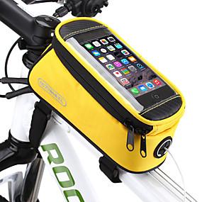 ieftine Sport & Stil de Viață-ROSWHEEL Telefon mobil Bag / Genți Cadru Bicicletă 5.5 inch Ecran tactil, Impermeabil Ciclism pentru Samsung Galaxy S6 / LG G3 / Samsung Galaxy S4 Albastru / Negru / iPhone 8/7/6S/6