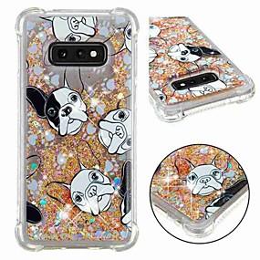 voordelige Galaxy S7 Hoesjes / covers-hoesje Voor Samsung Galaxy S9 / S9 Plus / S8 Plus Schokbestendig / Stromende vloeistof / Transparant Achterkant Hond / Glitterglans Zacht TPU