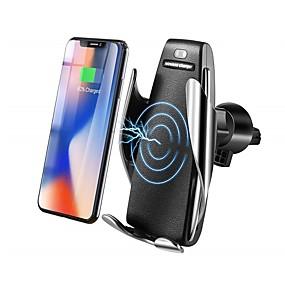 voordelige Autoladers-bestsin qi draadloze auto-oplader telefoon houder 10w snelle lading zwaartekracht koppeling luchtrooster uitlaat beugel