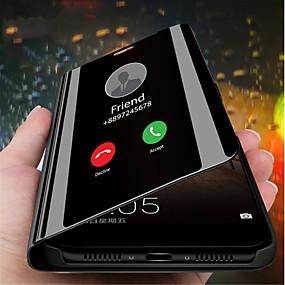 ieftine Accesorii Telefon Mobil-Maska Pentru Huawei Huawei Mate 20 / Huawei Mate 20X Cu Stand / Placare / Oglindă Carcasă Telefon Mată Greu PU piele pentru Mate 10 / Mate 10 pro / Huawei Mate 20 pro