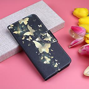 abordables Coques d'iPhone-Coque Pour Apple iPhone XS / iPhone XS Max Portefeuille / Porte Carte / Avec Support Coque Intégrale Papillon Dur faux cuir pour iPhone XS / iPhone XR / iPhone XS Max