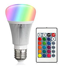 levne LED Smart žárovky-1 sada 10 W LED chytré žárovky 900 lm E26 / E27 A60(A19) 12 LED korálky Integrovaná LED Stmívatelné Dálkové ovládání Ozdobné RGBW 85-265 V / RoHs
