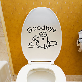 cheap Decoration Stickers-Toilet Stickers - Plane Wall Stickers Animals Living Room / Bedroom / Bathroom