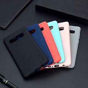 voordelige Galaxy S7 Edge Hoesjes / covers-hoesje Voor Samsung Galaxy S9 / S9 Plus / S8 Plus Ultradun / Mat Achterkant Effen Zacht TPU