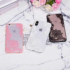 abordables Coques d'iPhone-Coque Pour Apple iPhone XR / iPhone XS Max Relief / Motif Coque Impression de dentelle Dur PC pour iPhone XS / iPhone XR / iPhone XS Max