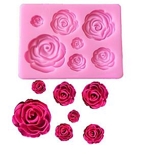ieftine Ustensile Bucătărie & Gadget-uri-trandafir flori în formă de fondant silicon mucegai craft mucegai de copt ciocolată