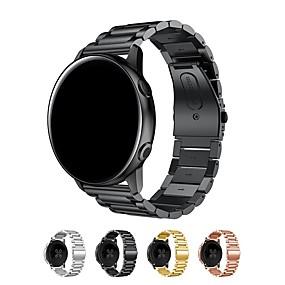 저렴한 스마트 시계 악세사리-시계 밴드 용 Samsung Galaxy Watch 42 Samsung Galaxy 클래식 버클 스테인레스 스틸 손목 스트랩