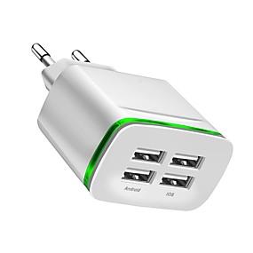 Χαμηλού Κόστους Φορτιστές USB-Φορτιστής USB -- 4 Σταθμός φορτιστή γραφείου Νεό Σχέδιο Ευρωπαϊκή Πρίζα Φορτιστής προσαρμογέα