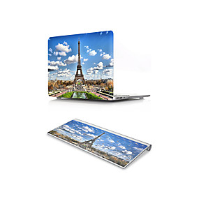 "cheap Mac Cases & Mac Bags & Mac Sleeves-MacBook Case with Protectors Eiffel Tower PVC(PolyVinyl Chloride) for MacBook 12'' / New MacBook Pro 15-inch / New MacBook Air 13"" 2018"