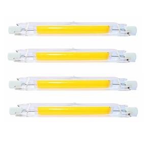 billige LED-lysstofrør-SENCART 4stk 9 W Lysrør 900 lm R7S T 1 LED Perler COB Vandtæt Roterbar Dæmpbar Varm hvid Kold hvid 220-240 V