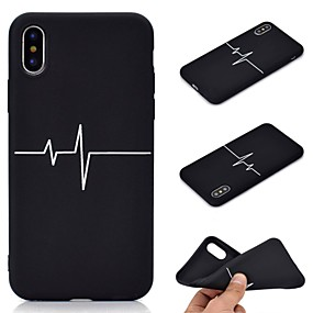 olcso iPhone tokok-Case Kompatibilitás Apple iPhone XR / iPhone XS Max Jeges / Minta Fekete tok Csempe Puha TPU mert iPhone XS / iPhone XR / iPhone XS Max