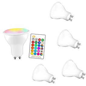 abordables Ampoules Intelligentes LED-5pcs 5 W Ampoules LED Intelligentes 350 lm GU10 E26 / E27 3 Perles LED SMD 5050 Elégant Intensité Réglable Soirée RGBW 85-265 V / RoHs
