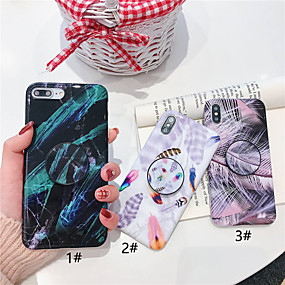 olcso iPhone tokok-Case Kompatibilitás Apple iPhone XR / iPhone XS Max Állvánnyal / Ultra-vékeny / Minta Fekete tok Tollak Puha TPU mert iPhone XS / iPhone XR / iPhone XS Max